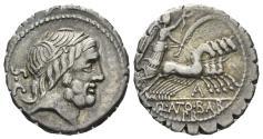 Ancient Coins - Q. Antonius Balbus. 83-82 BC. AR Serrate Denarius (3.90 gm, 19mm). Rome mint. Crawford 364/1d
