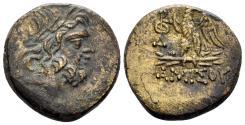 Ancient Coins - Pontos, Amisos. Time of Mithradates VI. Circa 85-65 BC. AE 20mm (8.91 gm). Malloy 14d