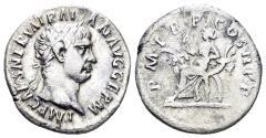 Ancient Coins - Trajan. 98-117 AD. AR Denarius (2.87 gm, 18mm). Rome mint. Struck 98-99 AD. RIC II 1