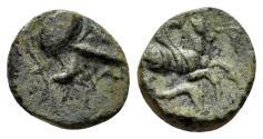 Ancient Coins - Mysia, Lampsakos. 4th-3rd century BC. AE Chalkous (0.76 gm, 10mm). SNG Copenhagen 209-10