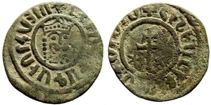 Ancient Coins - Kingdom of Cilician Armenia. Levon I, 1198-1219. AE Tank (29mm, 7.95 gm). Sis mint Nercessian 303