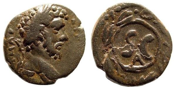 Ancient Coins - Syria, Seleucis and Pieria. Antioch. Marcus Aurelius, 161-180 AD. AE 18mm (2.84 gm). McAlee 602 (this coin)
