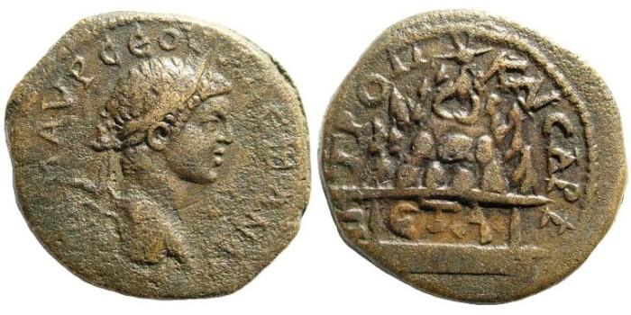 Ancient Coins - Kappadokia, Kaisareia. Severus Alexander. 222-235 AD. AE 27mm (13.96 gm). Year 1, 222 AD. Sydenham 534