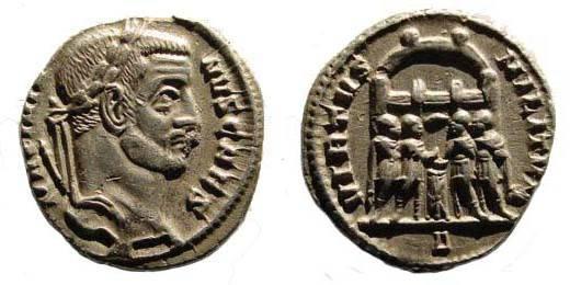Ancient Coins - Galerius as Caesar, 293-305 AD, Argenteus, Rome