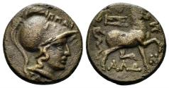 Ancient Coins - Thessalian League. 2nd - 1st Century BC. AE Dichalkon (4.15 gm, 16mm). Hippaitas as Magistrate. Rogers 44