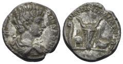 Ancient Coins - Caracalla, as Caesar. 196-198 AD. AR Denarius (2.95 gm, 16mm). Rome mint. Struck 196-198 AD. RIC IV 6