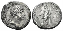 Ancient Coins - Hadrian. 117-138 AD. AR Denarius (2.99 gm, 17mm). Rome mint. Struck 119-125 AD. RIC II 133c