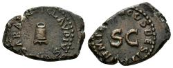 Ancient Coins - Claudius, 41-54 AD. AE Quadrans (3.76 gm, 20mm). Struck 41 AD. RIC I 84