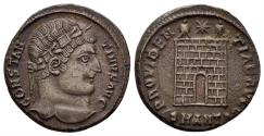 Ancient Coins - Constantine I , 307-337 AD. AE Nummus (3.59 gm, 19mm). Antioch mint, 327-328 AD. RIC 78 var.