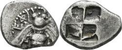 Ancient Coins - Ionia, Ephesos. Circa 450-415 BC. AR Drachm (3.29 gm, 16mm). SNG Kayhan 140