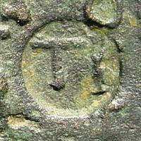 Ancient Coins - Pisidia, Timbriada. Septimius Severus, 193-211 AD. AE 35mm (23.79 gm). Hans von Aulock Pisidiens, 2132 (same dies and countermark). Very rare
