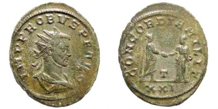 Ancient Coins - Probus, 276-282 AD. AE Antoninianus (3.91 gm, 24mm). Siscia mint. RIC V -