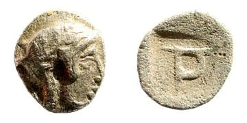 Ancient Coins - Ionia, Kolophon. Late 5th century BC. AR Tritemorion (0.31 gm, 8mm). SNG Turkey 357