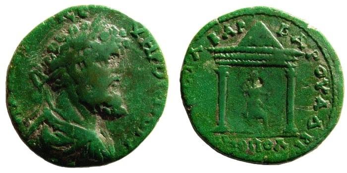Ancient Coins - Thrace, Hadrianopolis. Septimius Severus. 193 – 211 AD. AE 26mm (8.44 gm). Titus Statilius Barbarus, Hegemon, 196 – 198 AD. Jurukova, HP 146, 175. Very rare