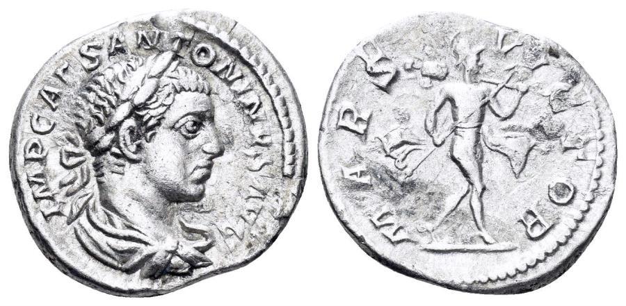 Ancient Coins - Elagabalus. 218-222 AD. AR Denarius (3.00 gm, 19mm). Rome mint. Struck 219 AD. RIC IV 123