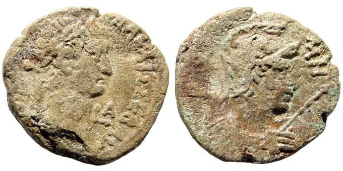 Ancient Coins - Egypt, Alexandria. Galba, 69 AD. Billon Tetradrachm (8.41 gm, 25mm). Year 1. SNG Copenhagen 144
