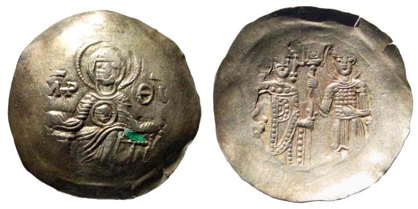 Ancient Coins - Manuel I Comnenus. 1143-1180. EL Aspron Trachy Nomisma (1.90 gm, 26mm, 6h). Thessalonica mint. Struck circa 1160-1167. SB 1974