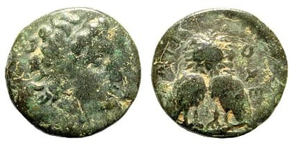 Ancient Coins - Seleukid Kingdom. Antiochus III or IV (?). AE 13mm (1.79 gm). Minted in Sigeum, Troas (?).Lindgren III 1029a. Very rare