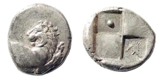 Ancient Coins - Thrace, Chersonesos. Circa 386-338 BC. AR Hemidrachm (2.38 gm, 13mm). BMC -; SNG Copenhagen -; SNG Berry 502