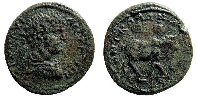 Ancient Coins - Kappadokia, Tyana. Caracalla, 198-217 AD. AE 28mm (14.23 gm). Dated RY 16 (212/3 AD). SNG von Aulock 6550