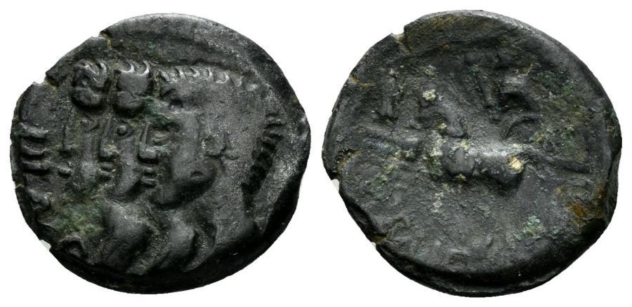 Ancient Coins - Celtic, Gallia Belgica, Remi. Circa 1st century BC. AE 16mm (2.15 gm). Scheers 519; De la Tour 8040