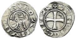 World Coins - Crusaders, Antioch. Bohémond III. 1163-1201. BI Denier (0.82 gm, 18mm). Antioch mint. Struck circa 1163-1188. Metcalf, Crusades 381-2