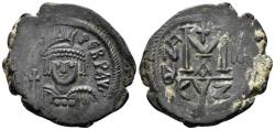 Ancient Coins - Heraclius. 610-641. AE Follis (11.74 gm, 30mm). Cyzicus mint, 1st officina. Dated RY 3 (612/3). DOC 169a; SB 839