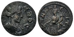Ancient Coins - Aeolis, Temnos. Time of Valerian and Gallienus, 253-268 AD. AE 17mm (3.32 gm). SNG Tübingen 2716