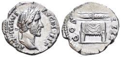 Ancient Coins - Antoninus Pius, 138-161 AD. AR Denarius (3.36 gm, 19mm). Rome mint. Struck 145-147 AD. RIC III 137