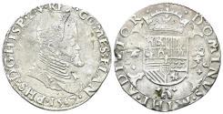 World Coins - Spanish Netherlands, Flanders. Philip II. 1555-1598. AR 1/5 Ecu (6.68 gm, 29mm). Brugge mint. Dated 1567. VanHoudt 271