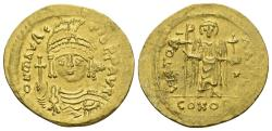 Ancient Coins - Maurice Tiberius. 582-602. AV Solidus (4.33 g, 22mm). Constantinople mint. Struck 583-601. SB 481
