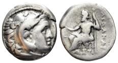 Ancient Coins - Macedonian Kingdom, Alexander III, 336-323 BC. AR Drachm (4.00 gm, 177). Posthumous issue of Mylasa?. Circa. 310-300 BC. Price 2479
