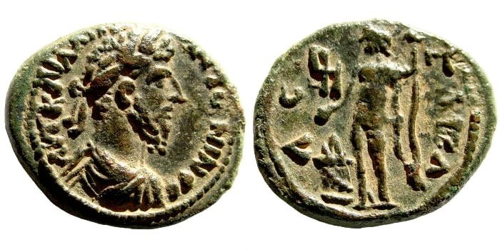 Ancient Coins - Judaea, Gaza. Marcus Aurelius, 161-180 AD. AE 21mm (6.74 gm, 12h). Dated CY 230 or 169/70 AD. Cf. SNG ANS 932