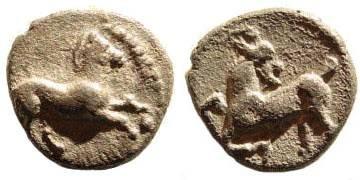 Ancient Coins - Cilicia, Kelenderis. 350-333 BC. AR Obol (0.68 gm). Cf. SNG Levante 29 (no reverse etnic)