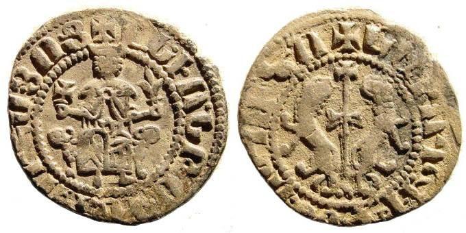 Ancient Coins - Armenia, Levon I AD 1199-1219 AR Tram (2.74gm). Nercessian 289