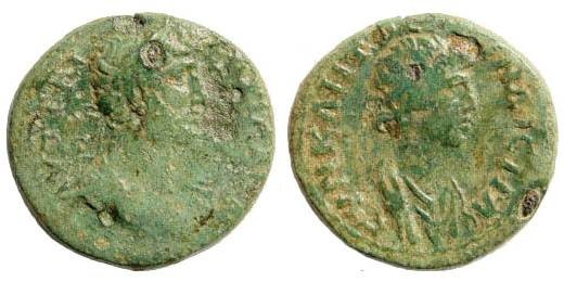 Ancient Coins - Mysia, Pergamon. Hadrian 117-138 AD. AE 17mm (2.95 gm). SNG France 5, 2097