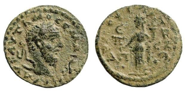 Ancient Coins - Cilicia, Mopsos-Mopsouestia. Macrinus, 217-218 AD. AE 21mm (6.89 gm). Year 285 = 217/18). BMC Cilicia, pg. 107, 20. Rare