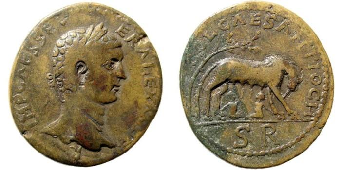 Ancient Coins - Pisidia, Antioch. Alexander Severus, 222-235 AD. AE 34mm (25.24 gm). SNG BN Paris 1186 (same reverse die)