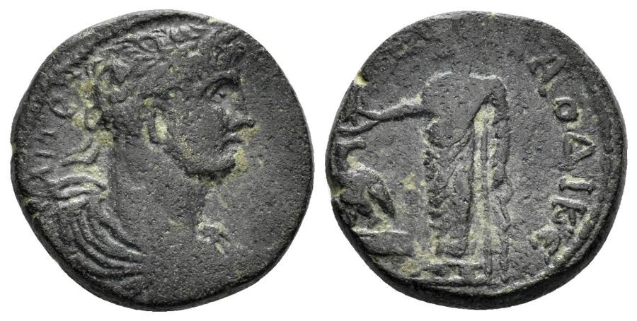 Ancient Coins - Phrygia, Laodikeia ad Lycum. Hadrian. 117-138 AD. AE 17mm (4.49 gm). RPC III 2325