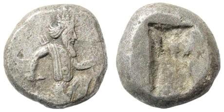 Ancient Coins - Achaemenid Kings. Circa. 375-340 BC. AR Siglos (5.43 gm, 14mm). Carradice, Taf. XV, 46
