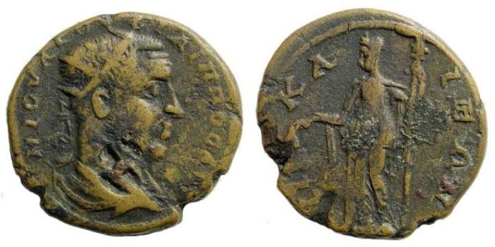 Ancient Coins - Bithynia, Nikaia. Philip I 244 – 249. AE Tetrassarion/ 28mm (13.06 gm). Weiser 94 (same dies); SNG von Aulock 676 (same dies). For countermark H, Howgego 821