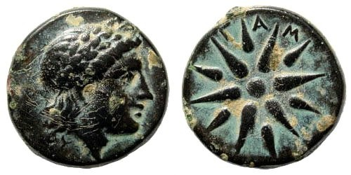 Ancient Coins - Mysia, Gambrion. After 350 BC. AE 16mm (4.10 gm). SNG Copenhagen 146