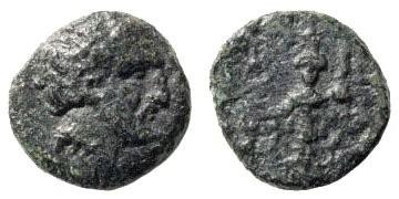 """Ancient Coins - Mysia, Astyra. Tissaphernes, Satrap. Circa 400-395 BC. AE 12mm (1.49 gm). Cahn, """"Zwei Griechische Miszellen,"""" in Numismatics Witness to History, pl. 13, 1-7"""