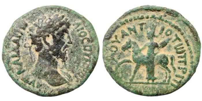Ancient Coins - Syria, Decapolis. Hippum. Marcus Aurelius. 161-180 AD. AE 26mm (10.37 gm). Spijkerman 19