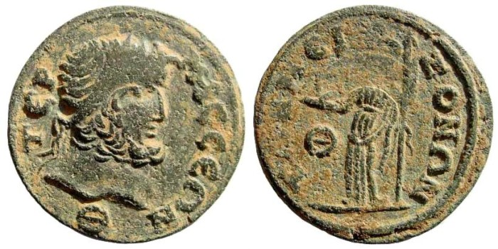 Ancient Coins - Pisidia, Termessos. 3rd century AD. AE 25mm (11.42 gm). SNG BN Paris 2197 (same obverse die)