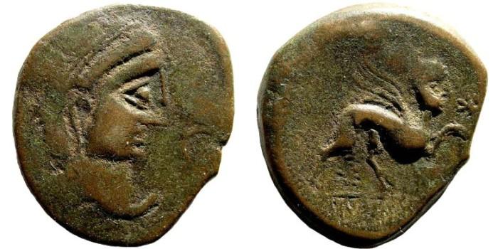 Ancient Coins - Spain. Castulo. Circa 50 BC. AE 28mm (10.83 gm). Villaronga 335,32