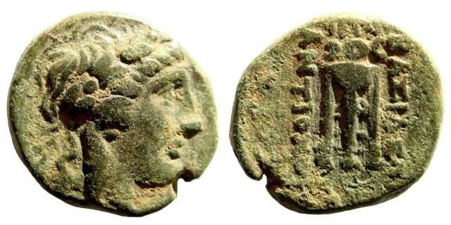 Ancient Coins - Seleukid Kingdom. Antiochus II, 261-246 BC. AE 17mm (4.25 gm). Sardeis mint. SNG Spear 351-64