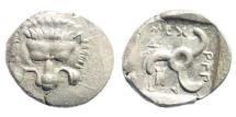 Ancient Coins - Lykian Dynasts. Mithrapata. Circa 390-370 BC. AR Sixth Stater (1.34 gm, 14mm). Müseler VII 81–3
