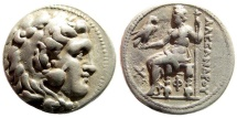 Ancient Coins - Seleukid Kingdom. Seleukos I Nikator. 312-281 BC. AR Tetradrachm (16.89 gm, 27mm). In the name of Alexander III of Macedon. Price 3192. Rare