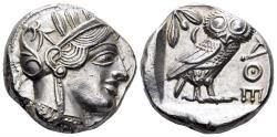 Ancient Coins - Attica, Athens. Circa 454-404 BC. AR Tetradrachm (17.15 gm, 23mm). Kroll 8; HGC 4, 1597